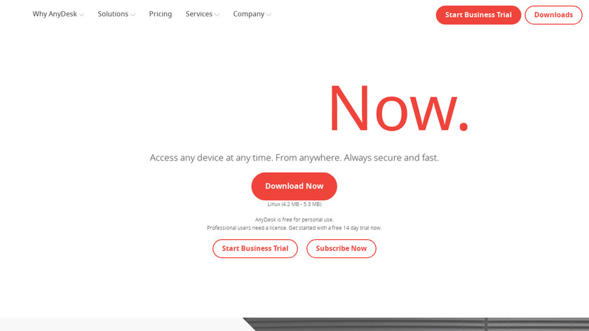 AnyDesk Landing Page