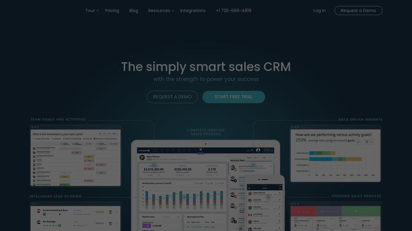 Teamgate CRM Landing Page