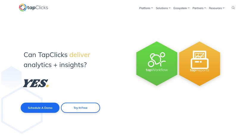 TapClicks Landing Page