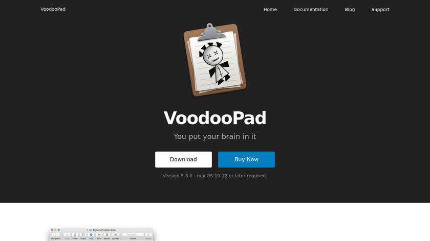VoodooPad Landing Page