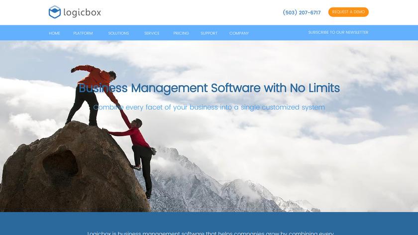 Logicbox Landing Page