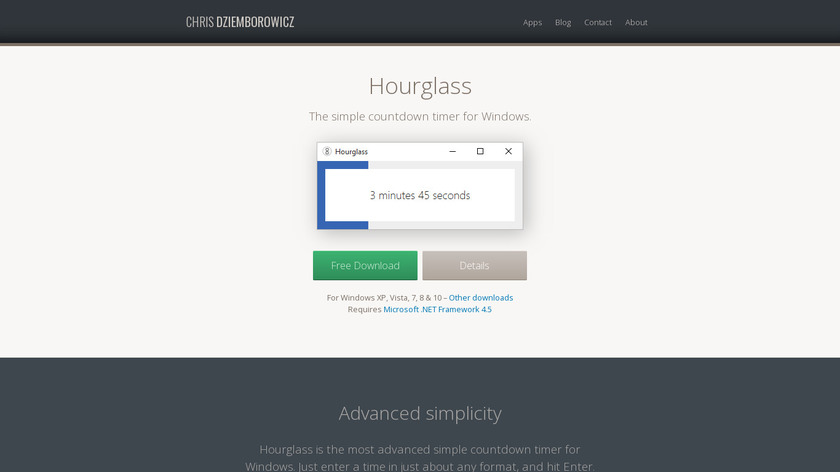 Hourglass Landing Page