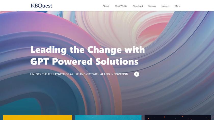 KBQuest WMS Landing Page