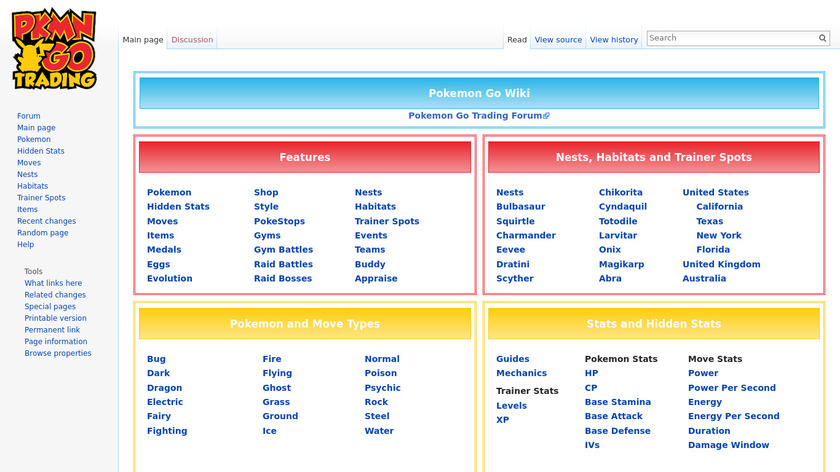 Pokemon Go Wiki Landing Page