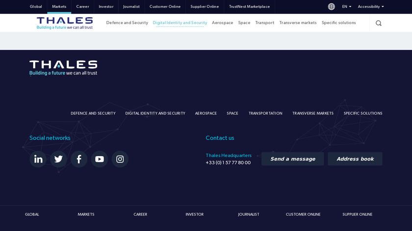 Gemalto SafeNet KeySecure Landing Page