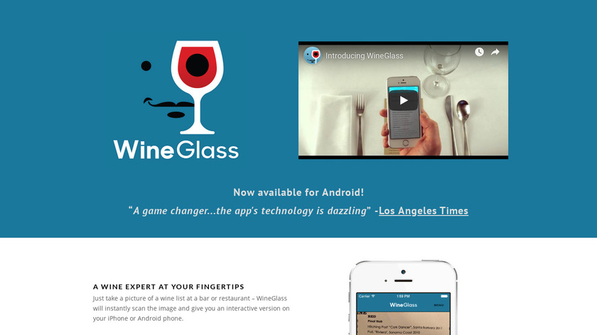 Wine Glass Landing Page