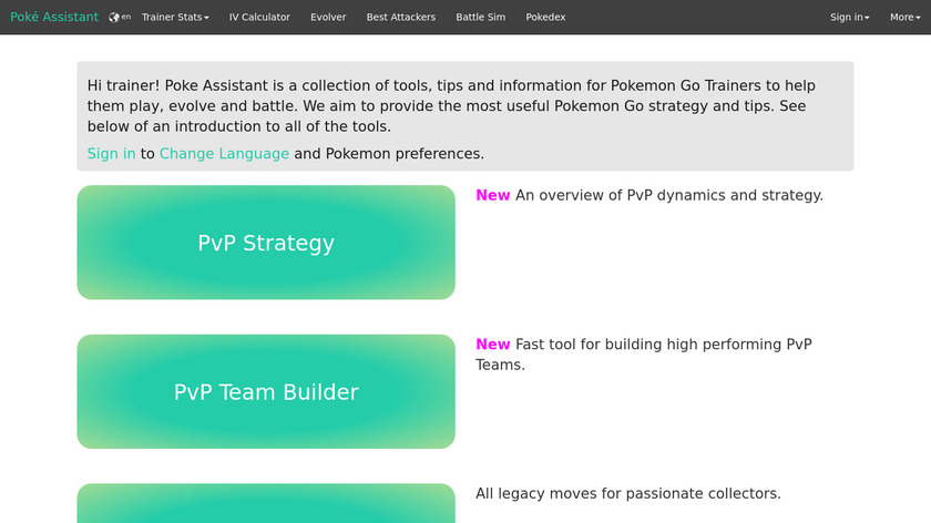 Poke Assistant Landing Page