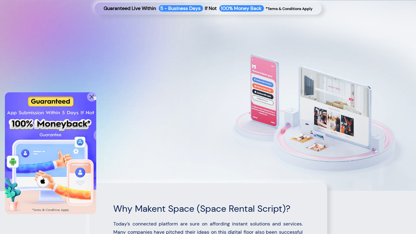 Makent Space by Trioangle Landing Page