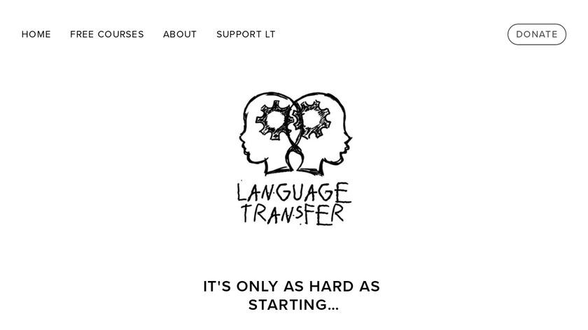 Language Transfer Landing Page