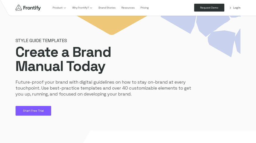 Frontify Style Guide Landing Page