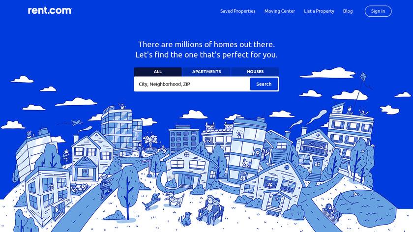 Rent.com Landing Page