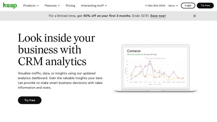 Infusionsoft Analytics Landing Page