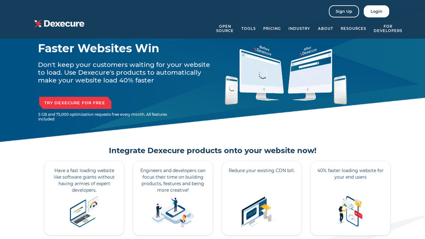 Dexecure Landing Page