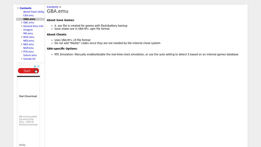 GBA.emu Landing Page