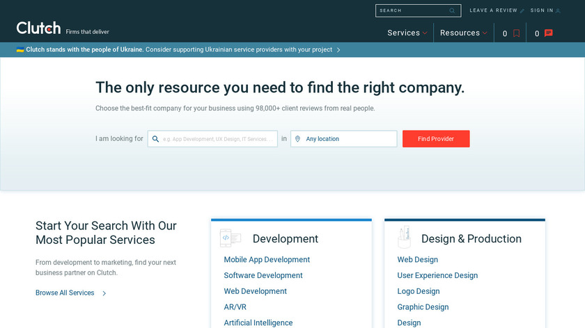 Clutch.co Landing Page