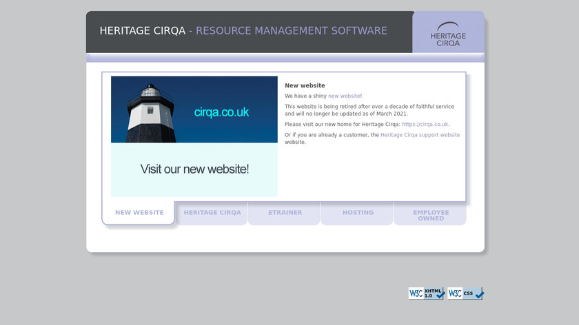 Heritage Cirqa Landing Page
