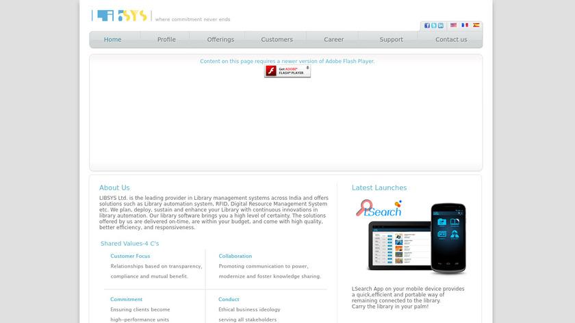 LIBSYS7 Landing Page