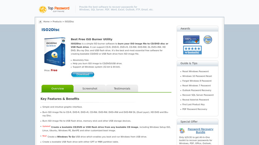 ISO2Disc Landing Page