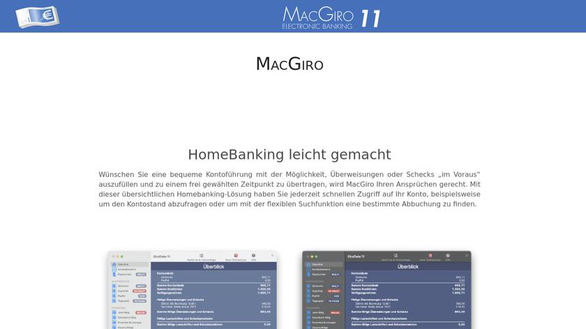 MacGiro Landing Page