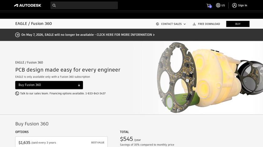 Autodesk EAGLE Landing Page