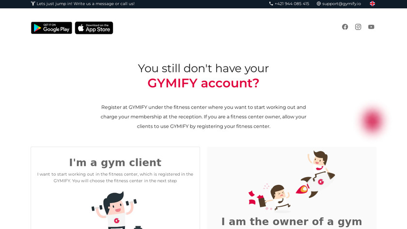 GYMIFY Landing Page