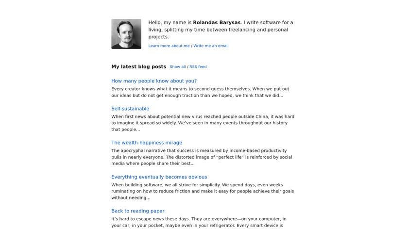 Decent Budget Landing Page