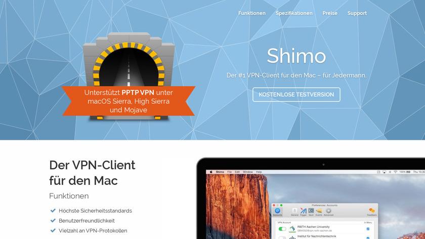 Shimo VPN Landing Page