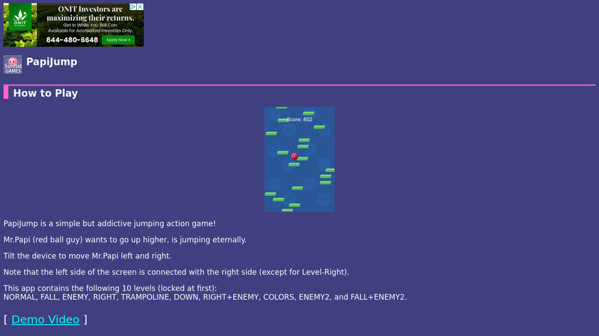 PapiJump Landing Page