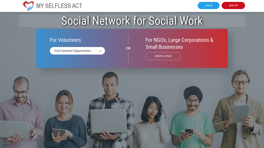My Selfless Act Landing Page