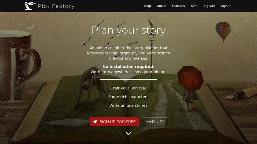 Plot Factory Landing Page