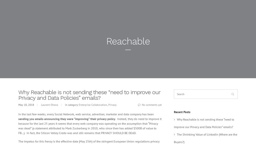 Reachable Landing Page