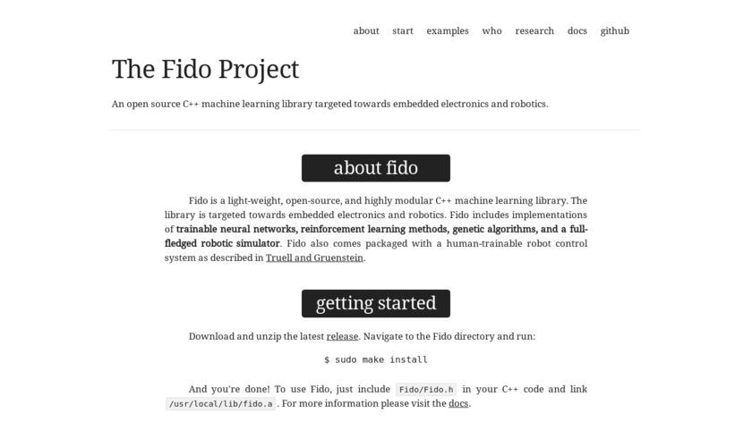 Fido Landing Page