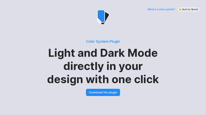 Color System Plugin for Sketch Landing Page