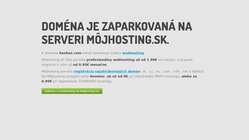 HaxHax Landing Page