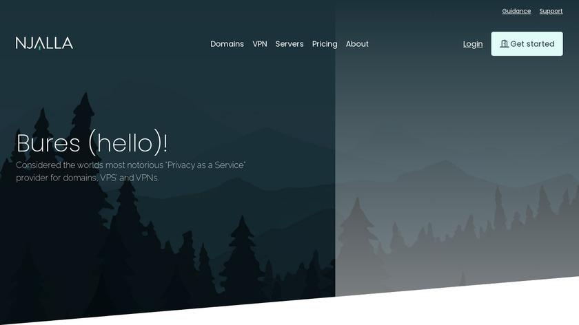Njalla Landing Page