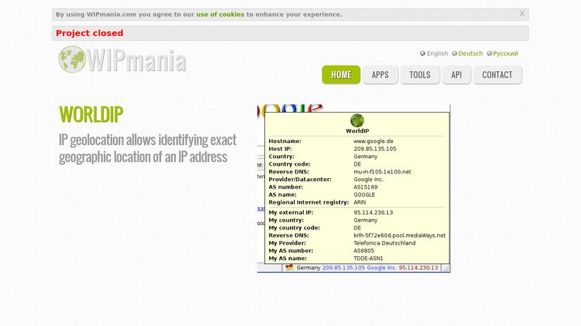 WIPmania Landing Page