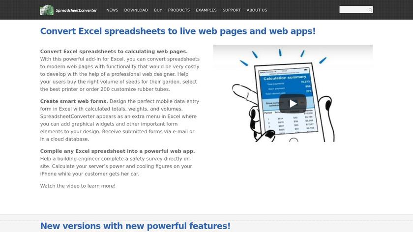 SpreadsheetConverter.com Landing Page