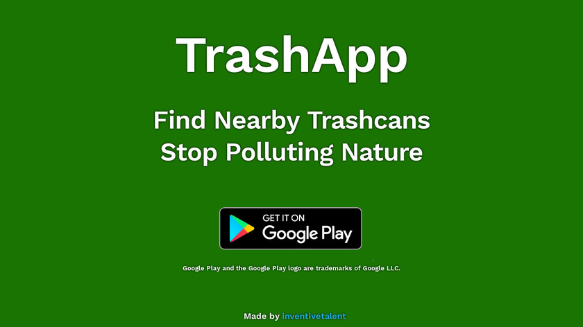 TrashApp Landing Page