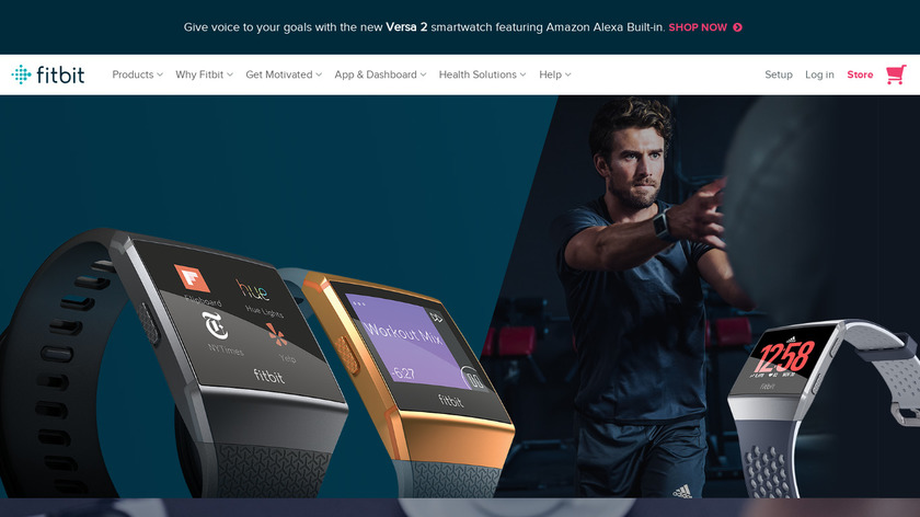 Fitbit Ionic Landing Page