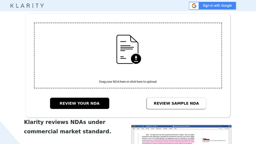 Klarity NDA Review Landing Page