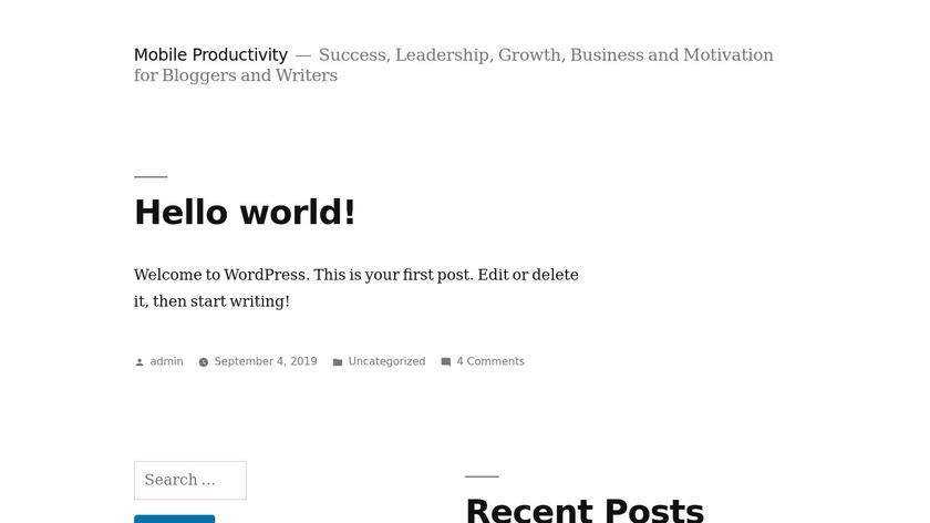 Productivity Landing Page