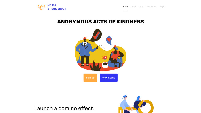 Help A Stranger Out Landing Page
