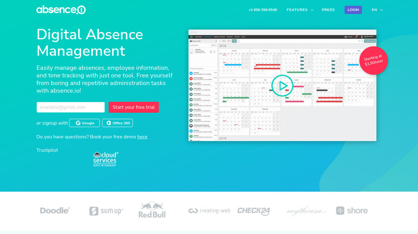 Absence Landing Page