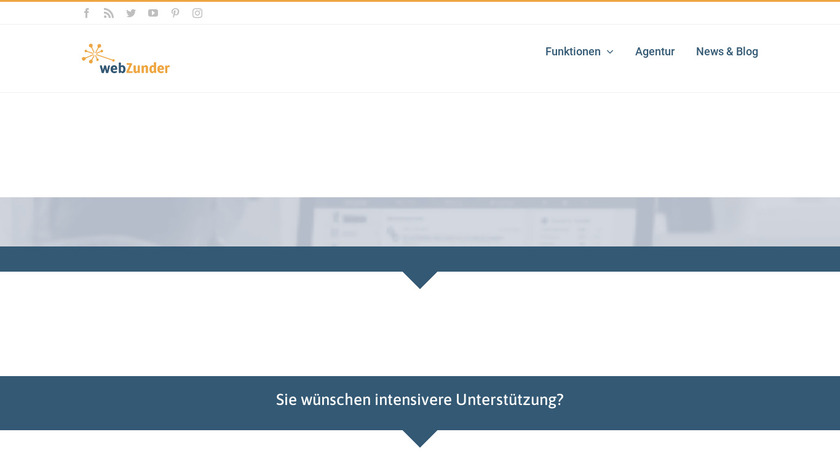 webZunder Landing Page