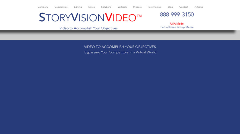 StoryVisionVideo Landing Page