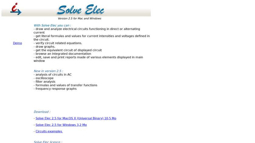 Solve Elec Landing Page