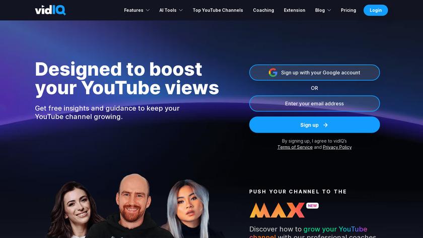 VidIQ Landing Page