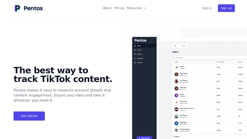 Pentos.co Landing Page