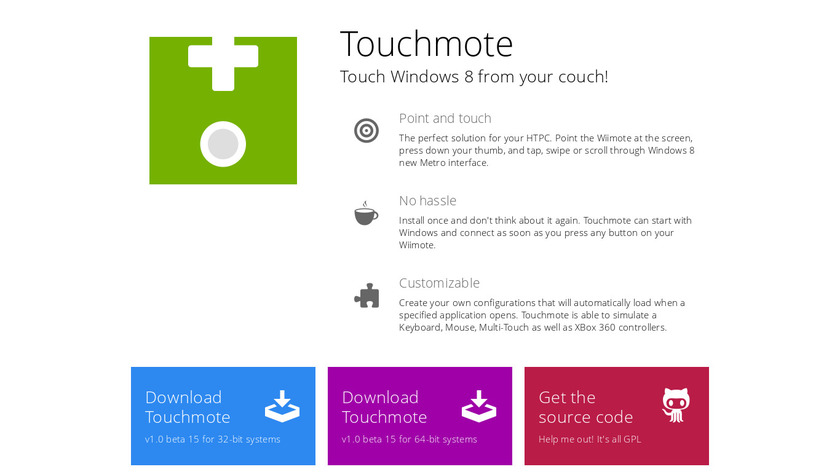 Touchmote Landing Page