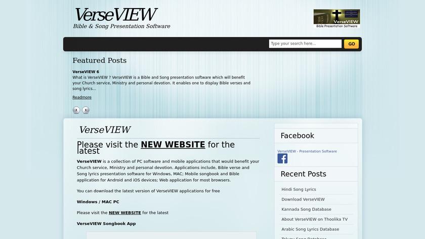 VerseVIEW Landing Page